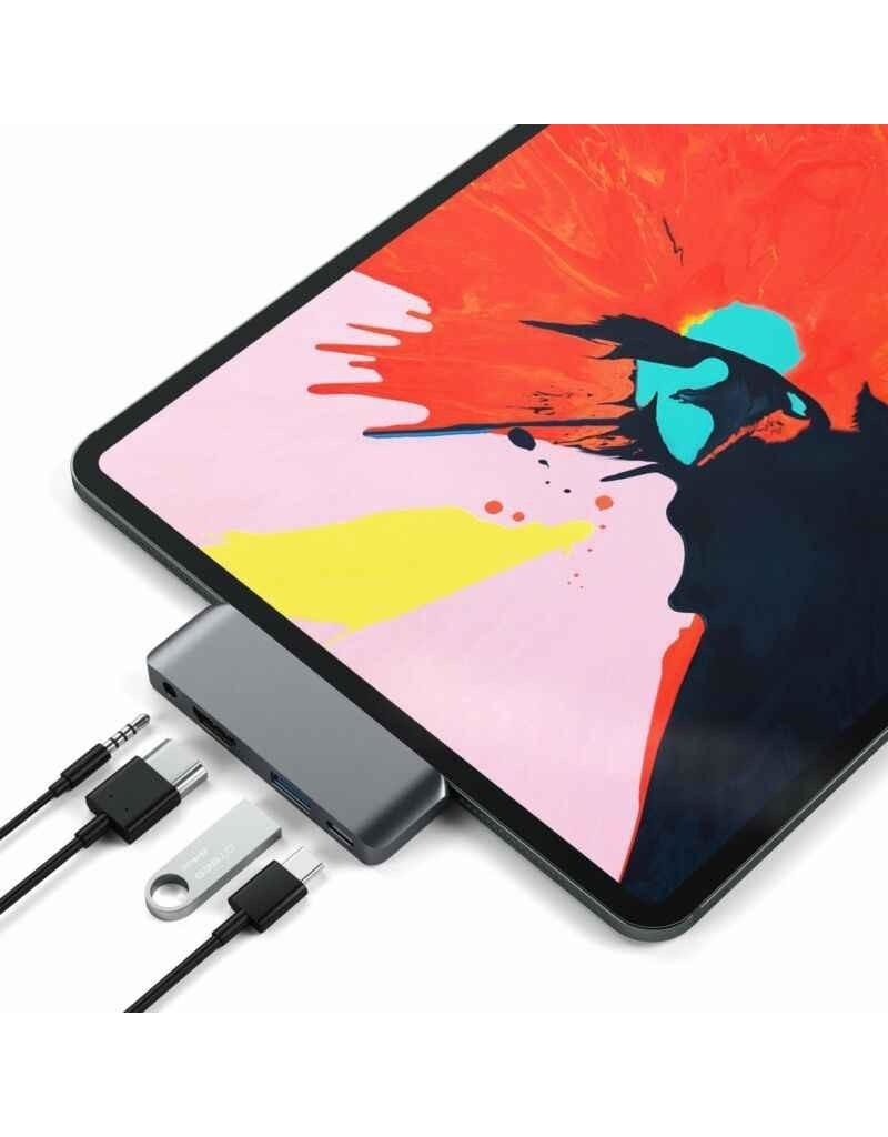 Satechi Satechi Type-C Moble Pro Hub For iPad Pro & Type-C Smartphones / Tablets - Space Gray