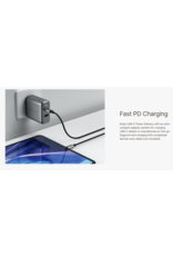 Satechi Satechi Dul Port Wall Charger 30W (USB-C,18W PD /USB-A,12W) - Space Grey