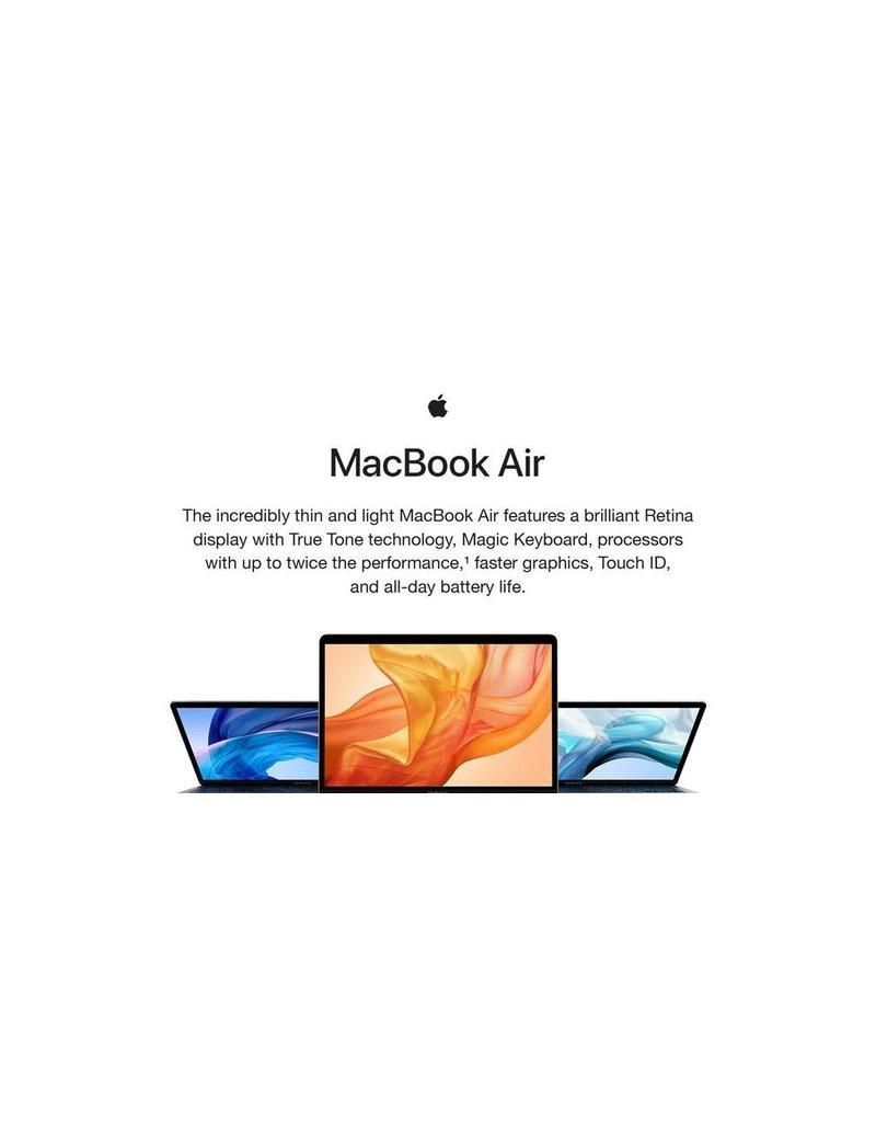 Apple Apple Macbook Air 13-Inch Intel Quad Core Core i5, 1.1Ghz, 8GB, 512GB, Arabic/ English Keyboard - Silver