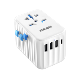 Zendure Zendure Passport II Pro Universal Travel Adapter 61W - White