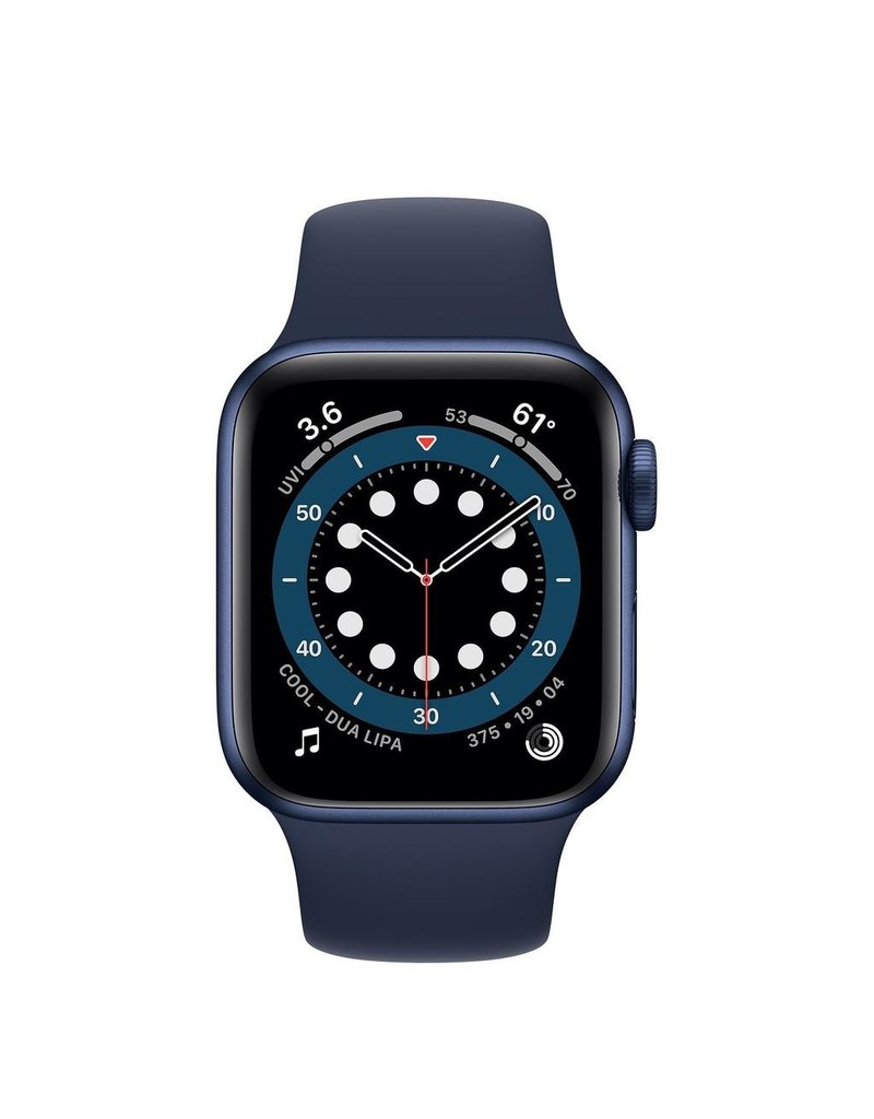 Apple Apple Watch Series 6 GPS, 40mm Aluminum Case with Deep Navy Sport Band - Navy Blue