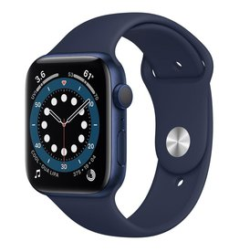 Apple Apple Watch Series 6 GPS, 44mm Aluminum Case with Deep Navy Sport Band - Navy Blue