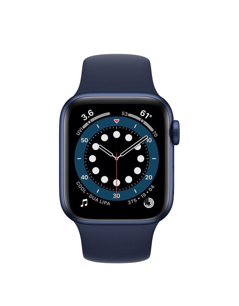 Apple Apple Watch Series 6 GPS + Cellular, 40mm Aluminum Case with Deep Navy Sport Band - Navy Blue