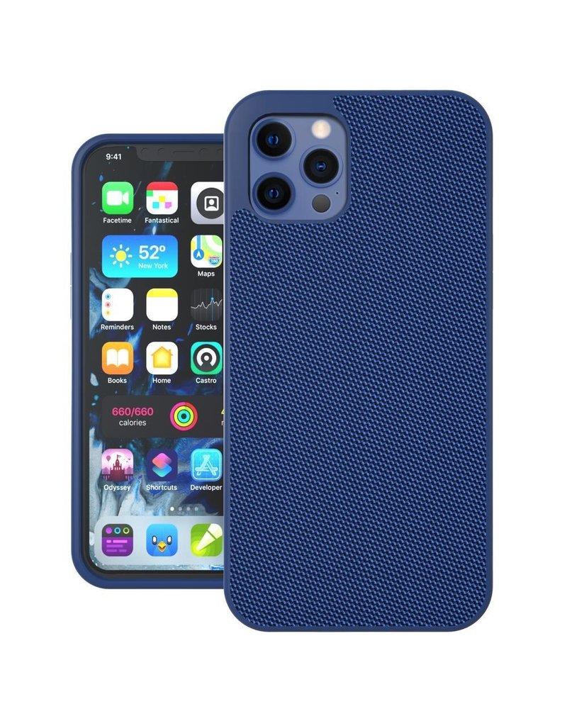 Evutec Evutec Ballistic Nylon Aergo Series Case With Afix for iPhone  12 Mini - Blue