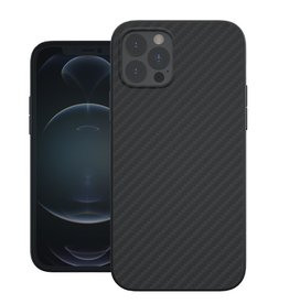 Evutec Evutec Aer Karbon Series With Afix Case for iPhone 12 / 12 Pro - Black