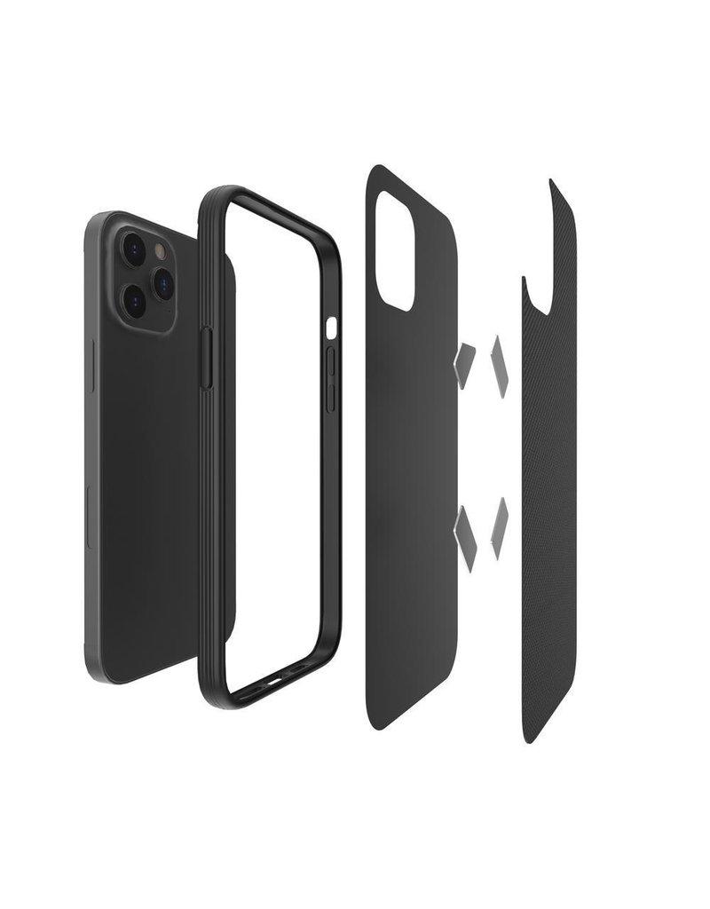 Evutec Evutec Aer Karbon Series With Afix Case for iPhone 12 / 12 Pro - Black
