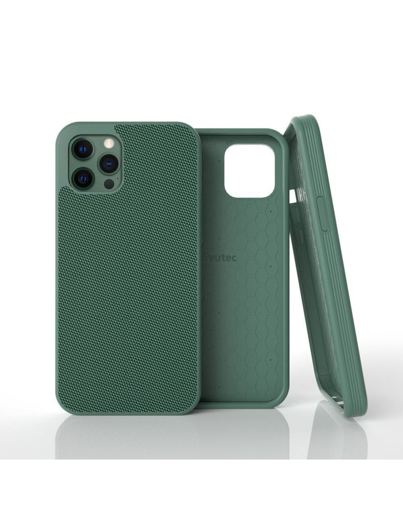 Evutec Evutec Ballistic Nylon Aergo Series Case With Afix for iPhone 12 / 12 Pro - Green