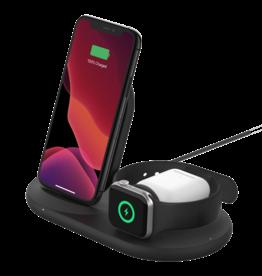 Belkin Belkin 3-in-1 Wireless Charging Pad with Apple Watch Dock - Black