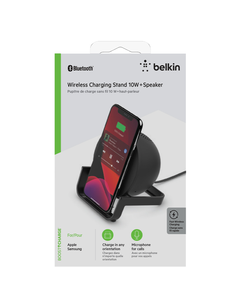 Belkin Belkin Boost Up Charge Wireless Charging Stand 10W with Bluetooth Speaker - Black