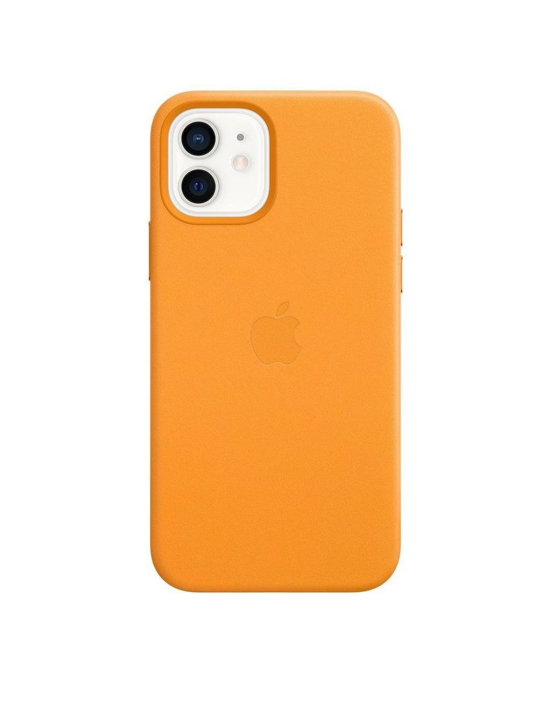 Apple Apple iPhone 12 | 12 Pro  Leather Case with MagSafe  - California Poppy