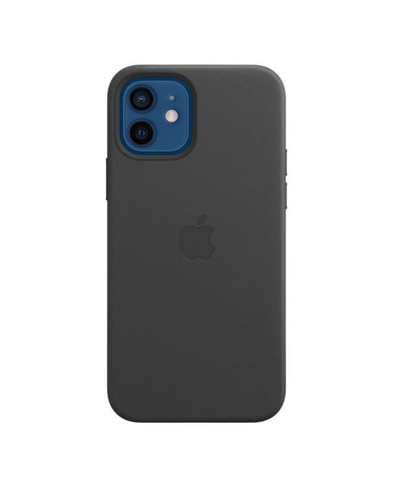 Apple Apple iPhone 12 | 12 Pro  Leather Case with MagSafe - Black