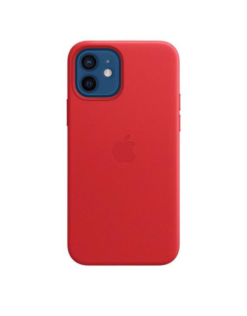Apple Apple iPhone 12 | 12 Pro  Leather Case with MagSafe - (Product) Red