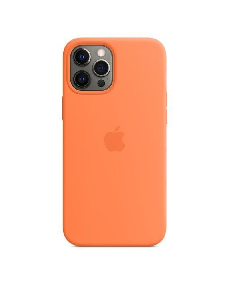 Apple Apple iPhone 12 Pro Max Silicone Case with MagSafe - Kumquat