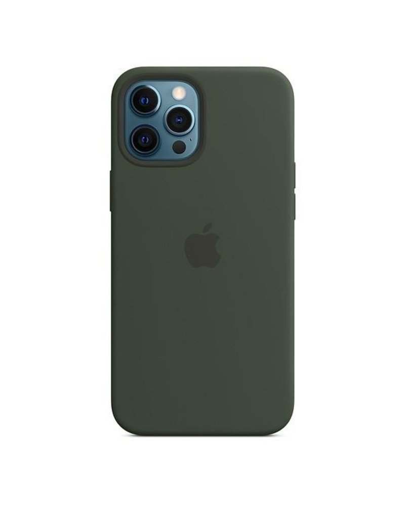 Apple Apple iPhone 12 Pro Max Silicone Case with MagSafe - Cyprus Green
