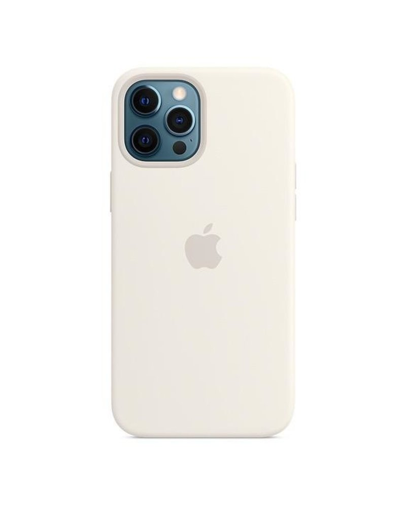 Apple Apple iPhone 12 Pro Max Silicone Case with MagSafe - White