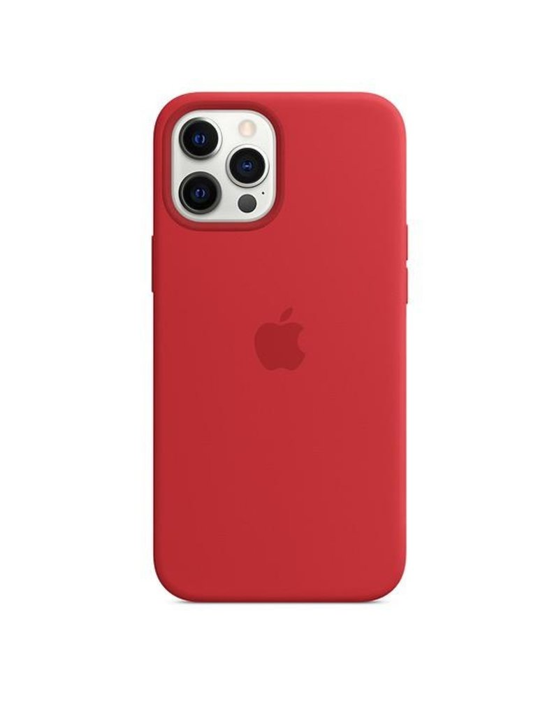 Apple Apple iPhone 12 Pro Max Silicone Case with MagSafe - (Product) Red