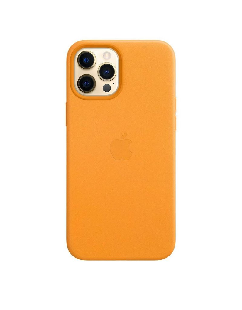 Apple Apple iPhone 12 Pro Max Leather Case with MagSafe - California Poppy