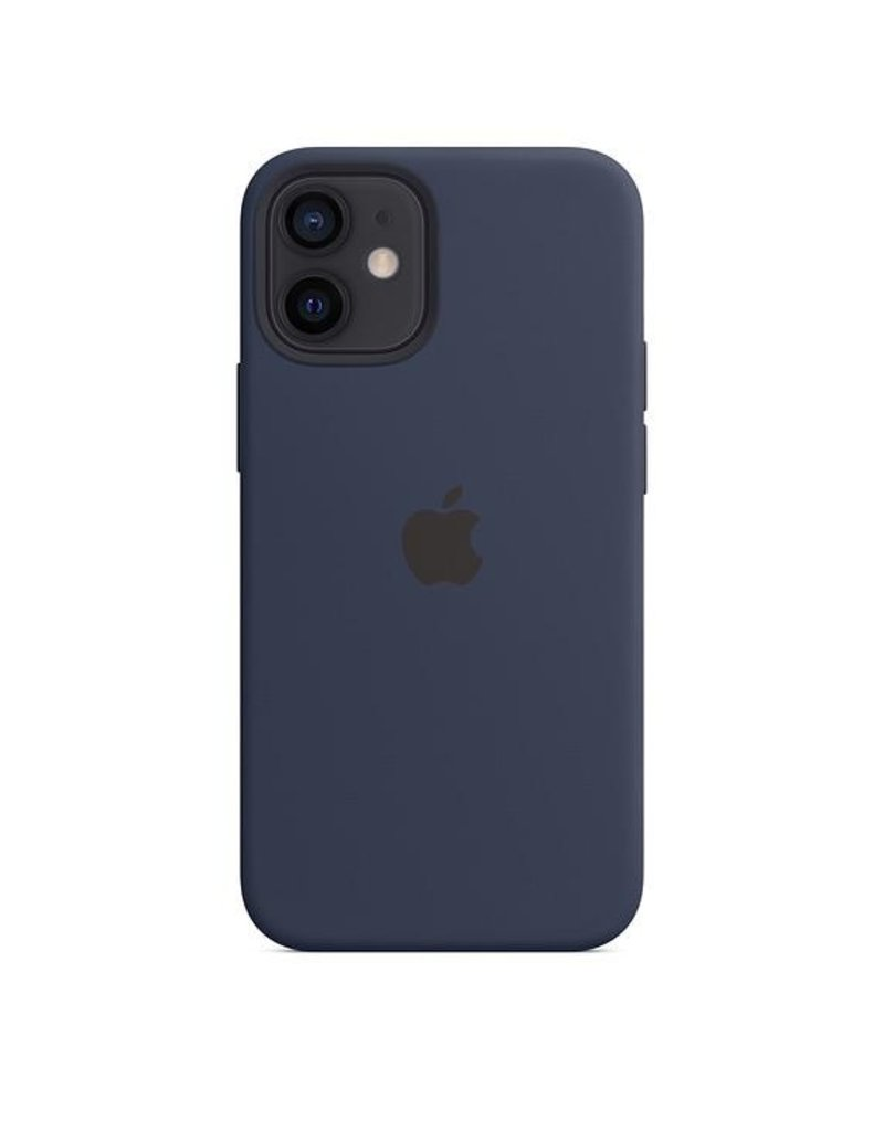 Apple Apple iPhone 12 Mini Silicone Case with MagSafe - Deeep Navy