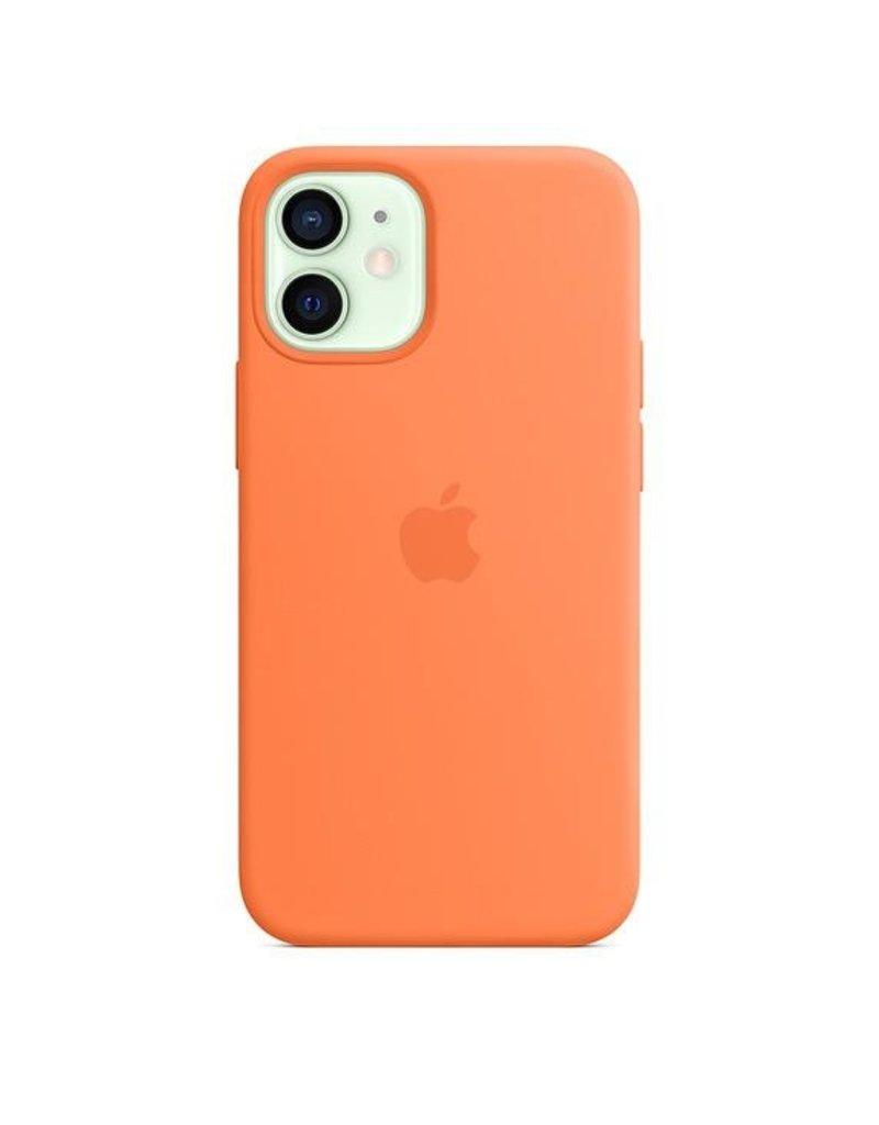 Apple Apple iPhone 12 Mini Silicone Case with MagSafe - Kumquat