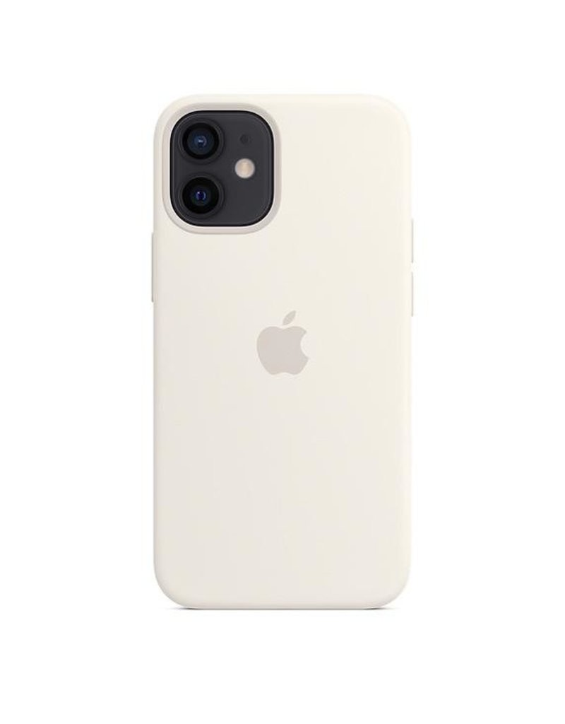 Apple Apple iPhone 12 Mini Silicone Case with MagSafe - White