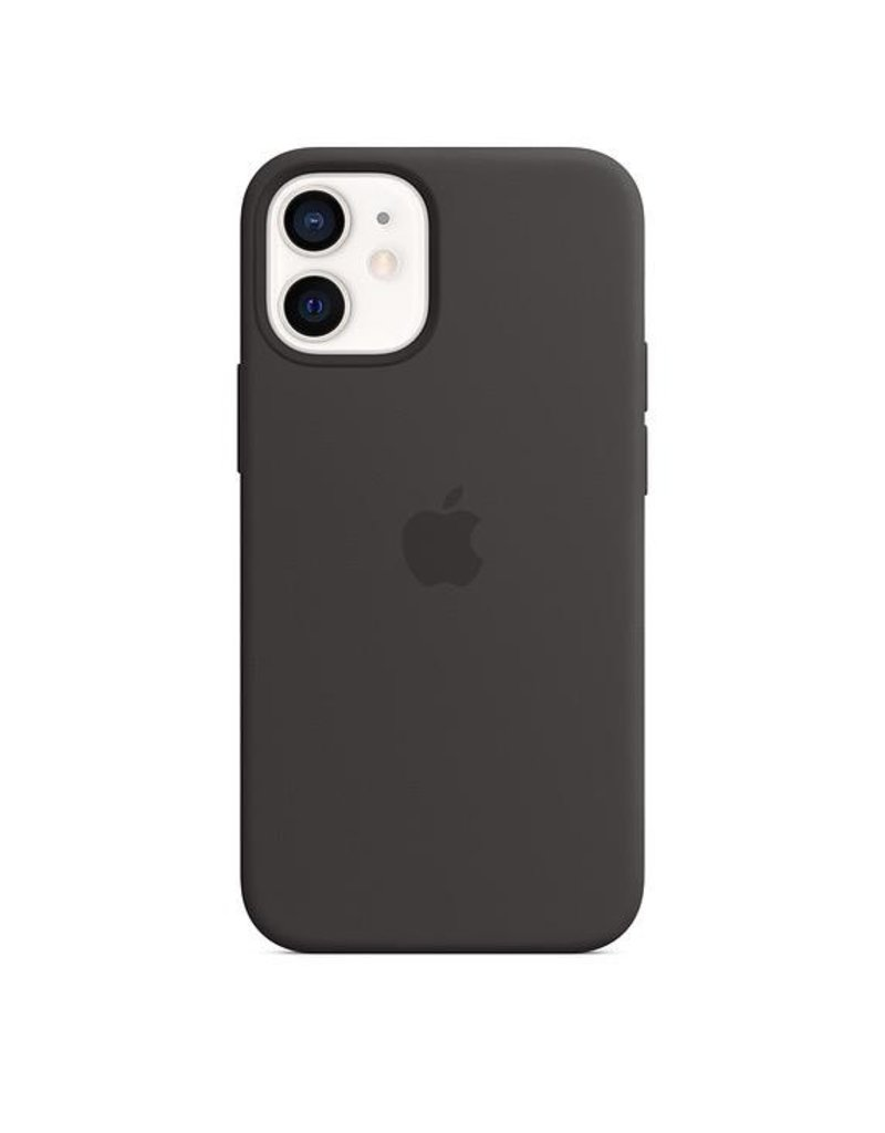Apple Apple iPhone 12 Mini Silicone Case with MagSafe - Black