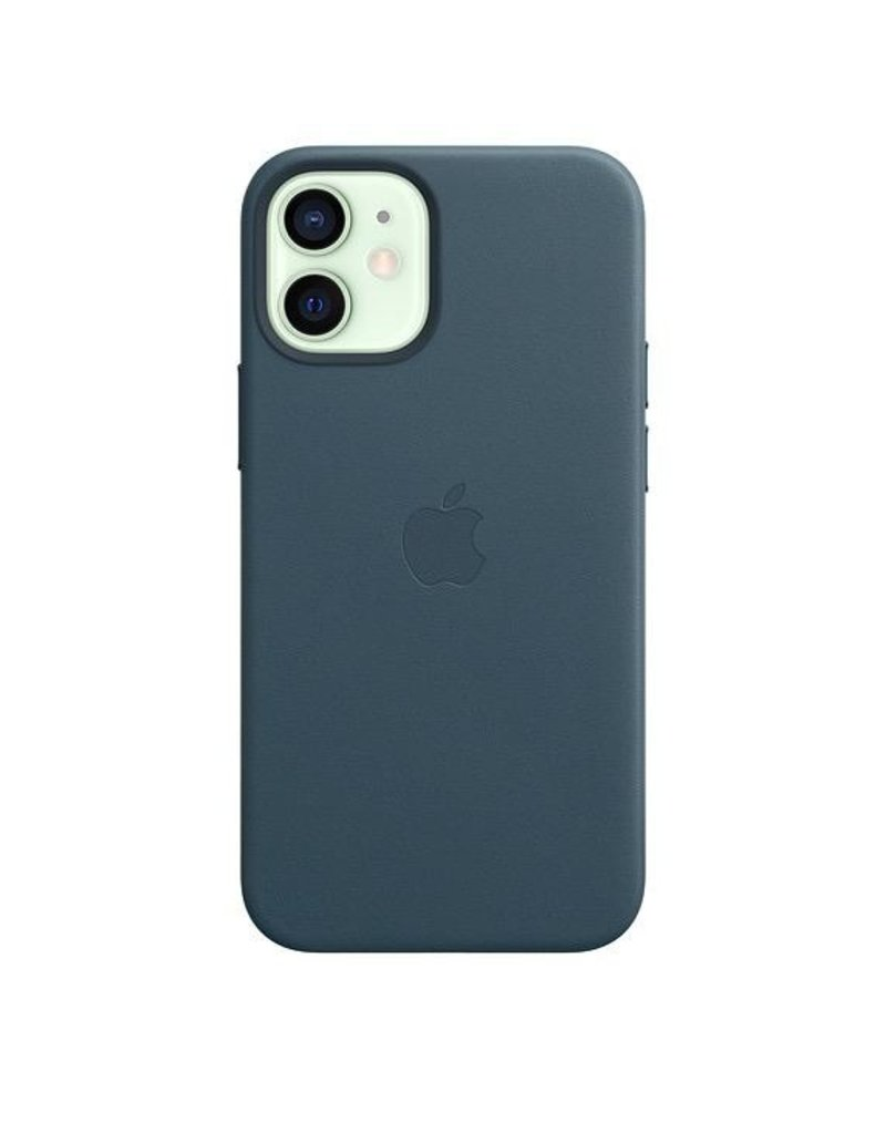 Apple Apple iPhone 12 Mini Leather Case with MagSafe - Baltic Blue