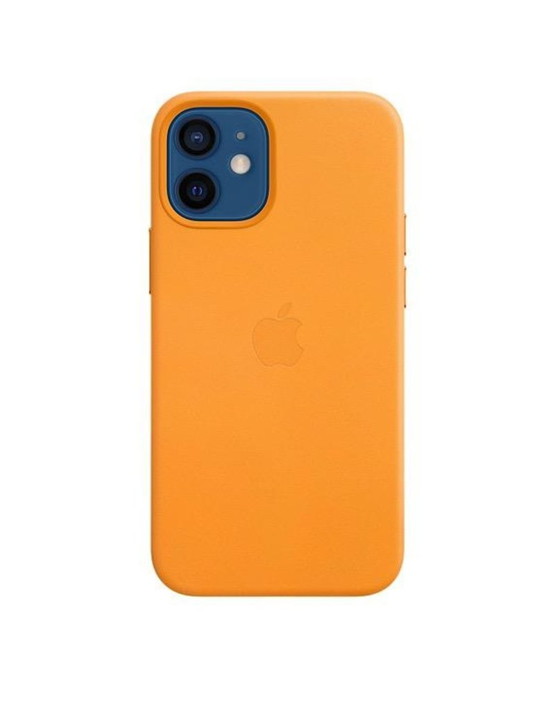Apple Apple iPhone 12 Mini Leather Case with MagSafe - California Poppy