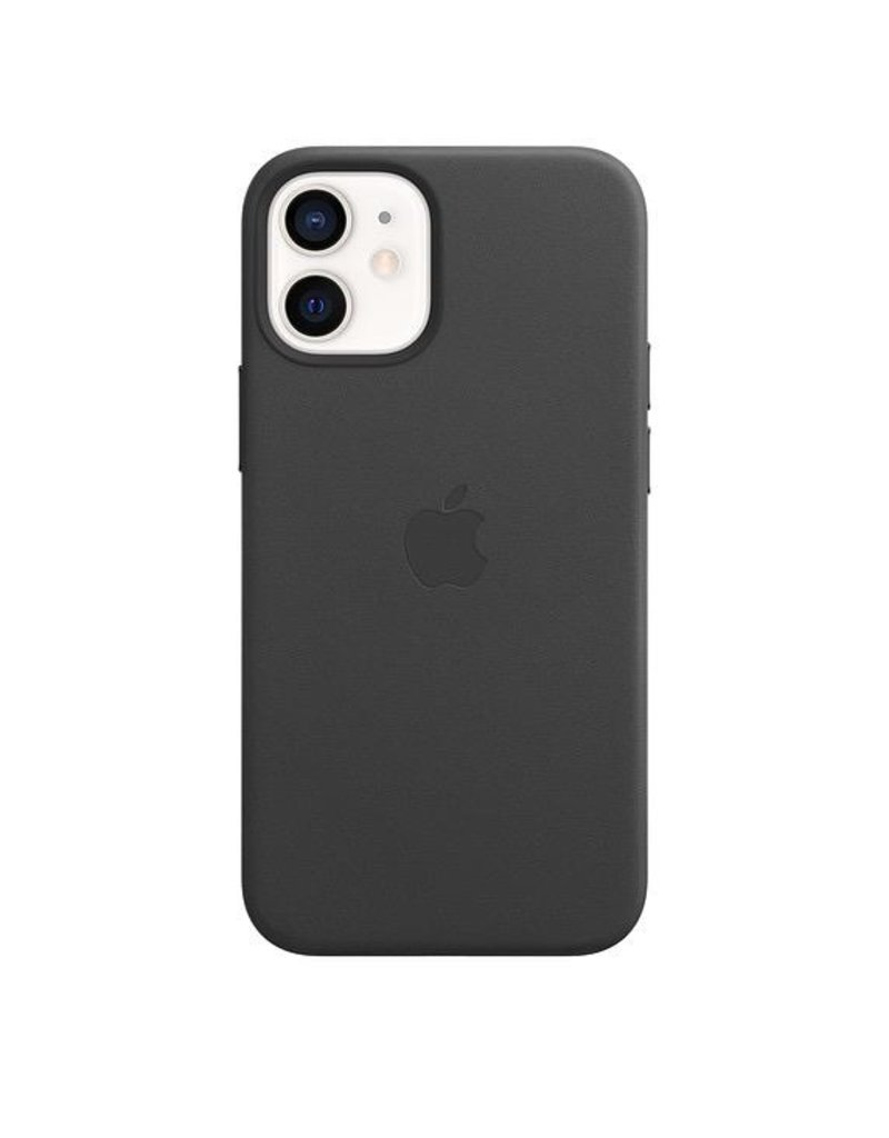 Apple Apple iPhone 12 Mini Leather Case with MagSafe - Black