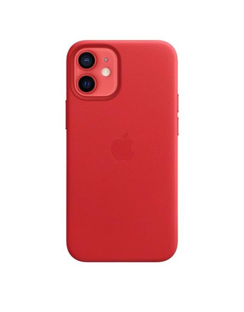 Apple Apple iPhone 12 Mini Leather Case with MagSafe - (Product) Red