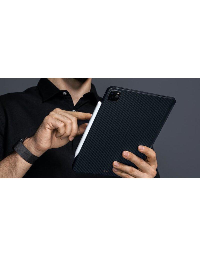 """Pitaka Pitaka Aramid Karbon Fiber MagEZ Case for iPad Pro 11"""" 2nd-Gen (2020) - Black/Blue Twill"""