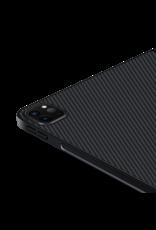 """Pitaka Pitaka Aramid Karbon Fiber MagEZ Case for iPad Pro 12.9"""" 4th-Gen (fit Smart/MagicKeyboard) - Black/Grey Twill"""
