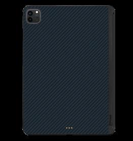 """Pitaka Pitaka Aramid Karbon Fiber MagEZ Case for iPad Pro 12.9"""" 4th-Gen (fit Smart/MagicKeyboard) - Black/Blue Twill"""