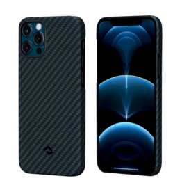 Pitaka Pitaka Aramid Karbon Fiber MagEz Case for iPhone 12 / 12 Pro - Black/Blue Twill