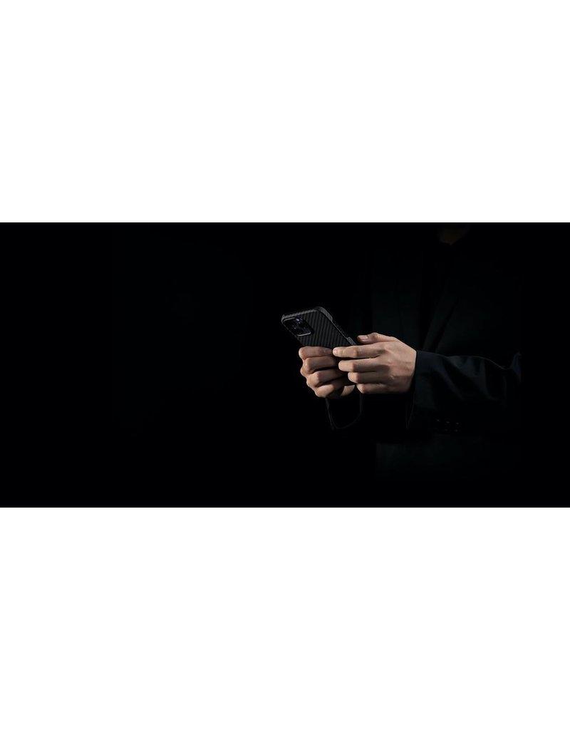 Pitaka Pitaka Aramid Karbon Fiber MagEz Case for iPhone 12 / 12 Pro - Black/Blue Twill