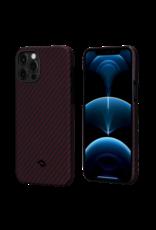 Pitaka Pitaka Aramid Karbon Fiber MagEz Case for iPhone 12 / 12 Pro - Black/Red Twill