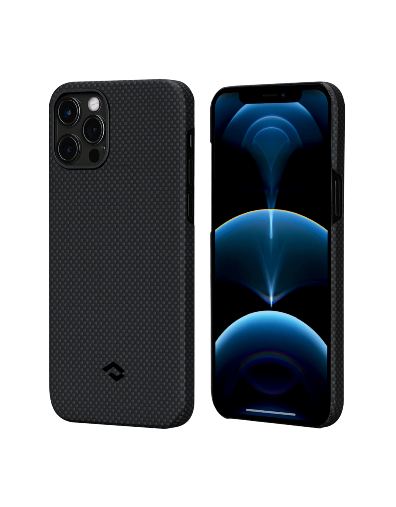Pitaka Aramid Karbon Fiber MagEz Case for iPhone 12 / 12 Pro - Black/Grey Plain