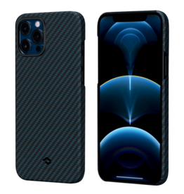 Pitaka Pitaka Aramid Karbon Fiber MagEz Case for iPhone 12 Pro Max - Black/Blue Twill