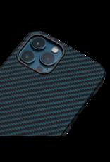 Pitaka Aramid Karbon Fiber MagEz Case for iPhone 12 Pro Max - Black/Blue Twill