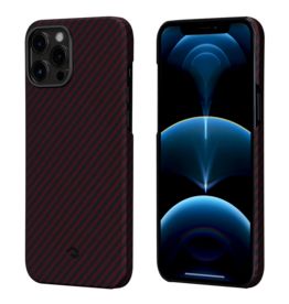 Pitaka Pitaka Aramid Karbon Fiber MagEz Case for iPhone 12 Pro Max - Black/Red Twill