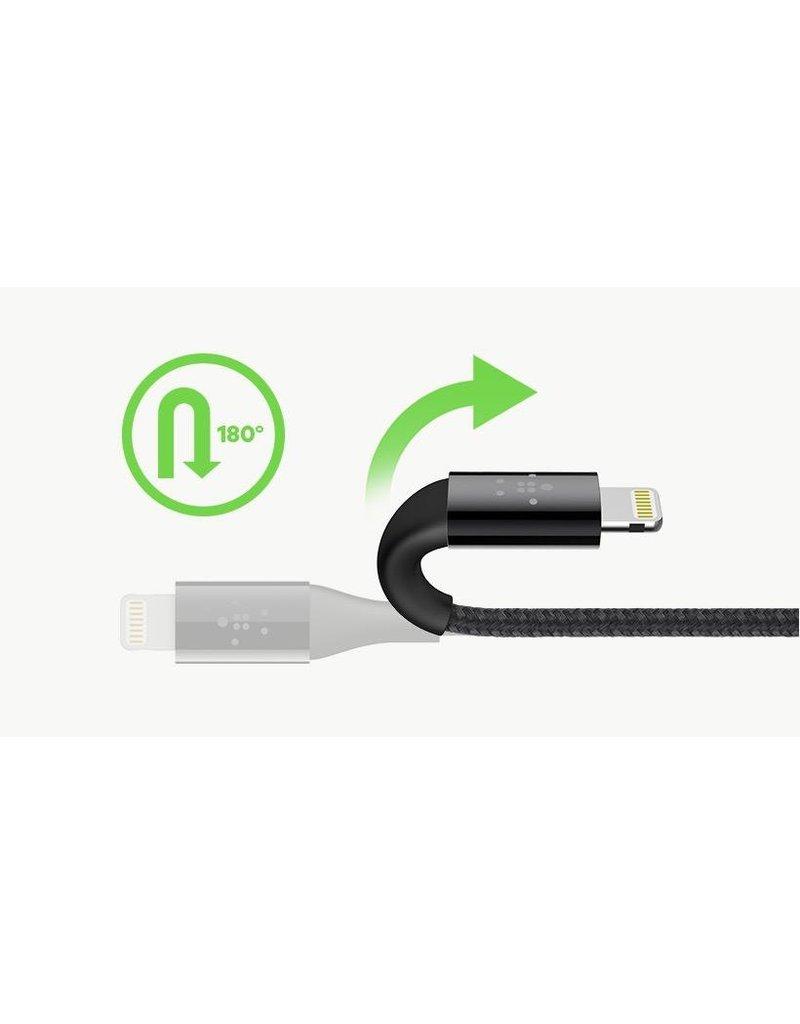 Belkin Belkin Duratek Plus Lightning to USB-A cable 3M - White