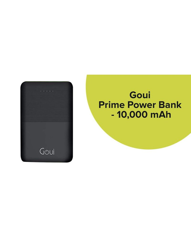 Goui Goui Prime Powerbank 10000 mAh PD + QC 3.0 - Black