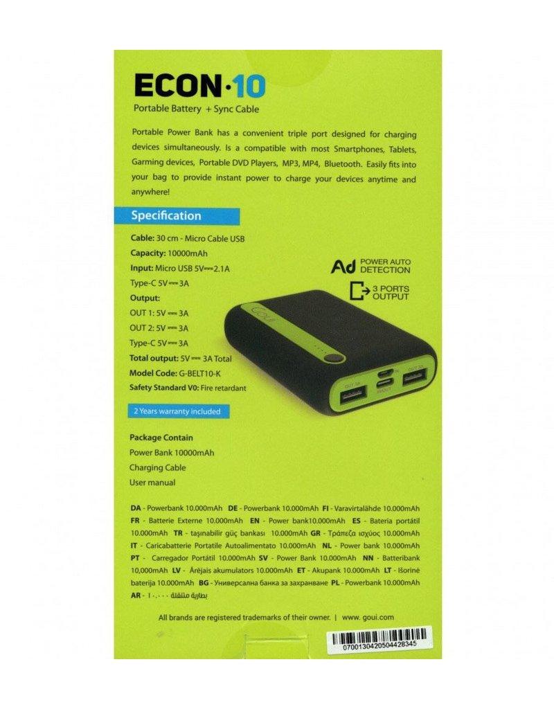 Goui Goui ECON-10 Power Bank 10000mAh Black