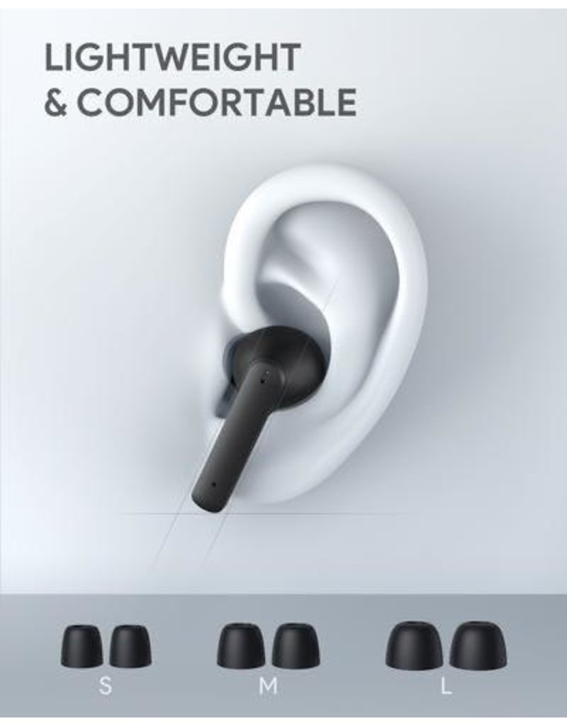 AUKEY Aukey True Wireless Noise Cancelling Earbuds ANC Series EP-N5 - Black