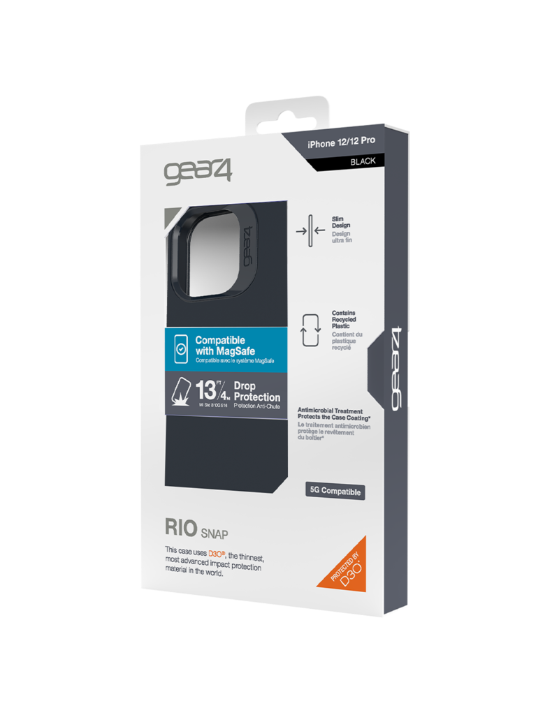 Gear4 Gear4 Rio Snap Case for Apple iPhone 12 and 12 Pro - Black