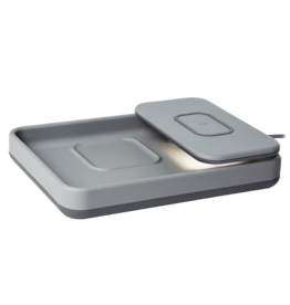TYLT TYLT Tray Pivot Phone and Headphone Wireless Charging Pad 10w - Gray