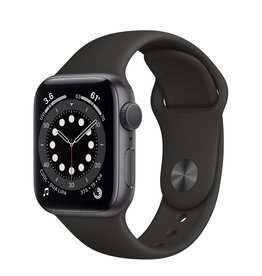 Apple Apple Watch Series 6 GPS, 40mm Aluminum Case with Black Sport Band - Space Gray