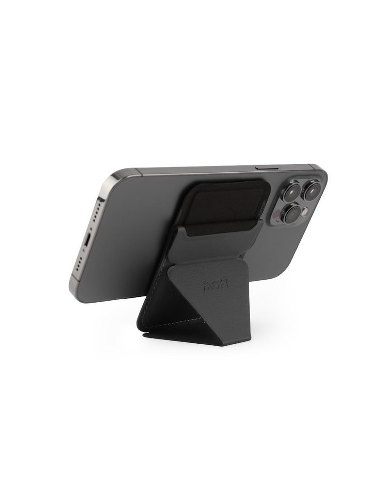 Moft Moft Snap-On Phone Stand and Wallet with MagSafe Compatible - Gray