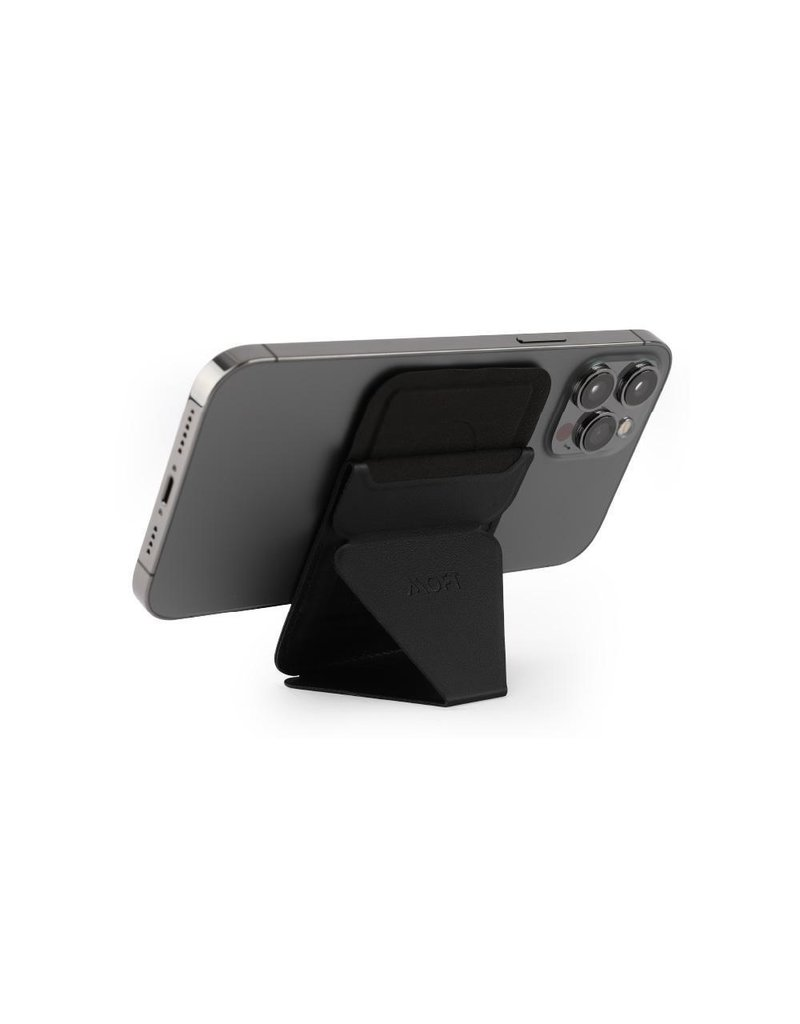 Moft Moft Snap-On Phone Stand and Wallet with MagSafe Compatible - Black