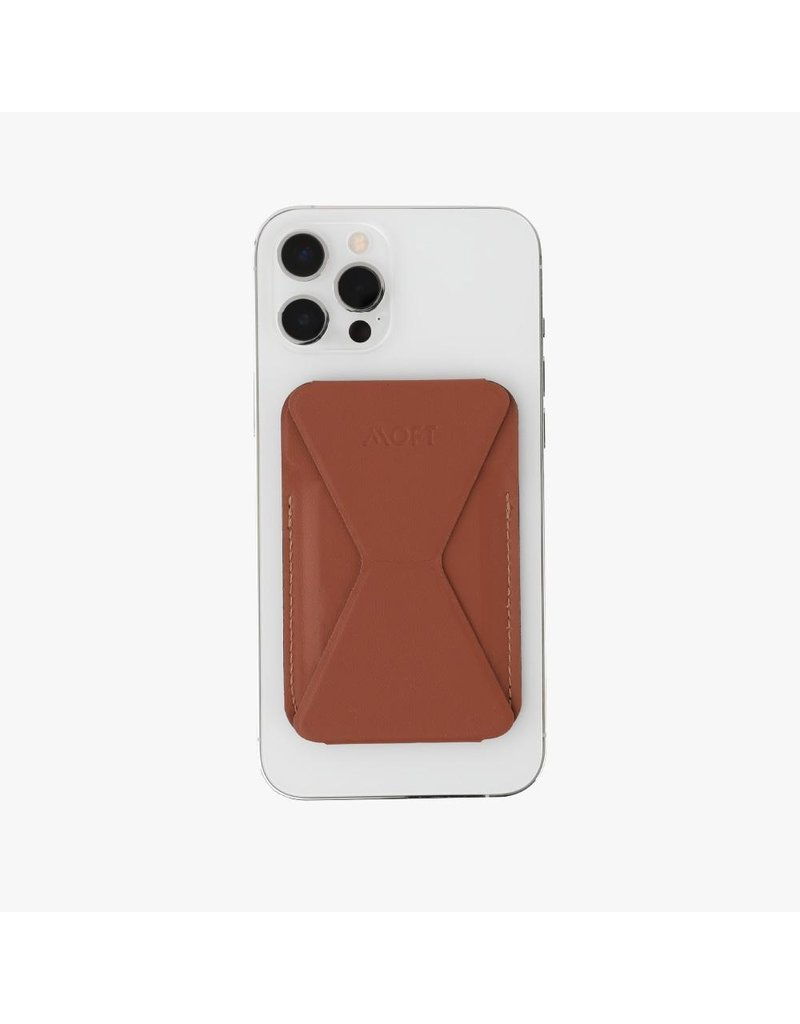 Moft Moft Snap-On Phone Stand and Wallet with MagSafe Compatible - Brown