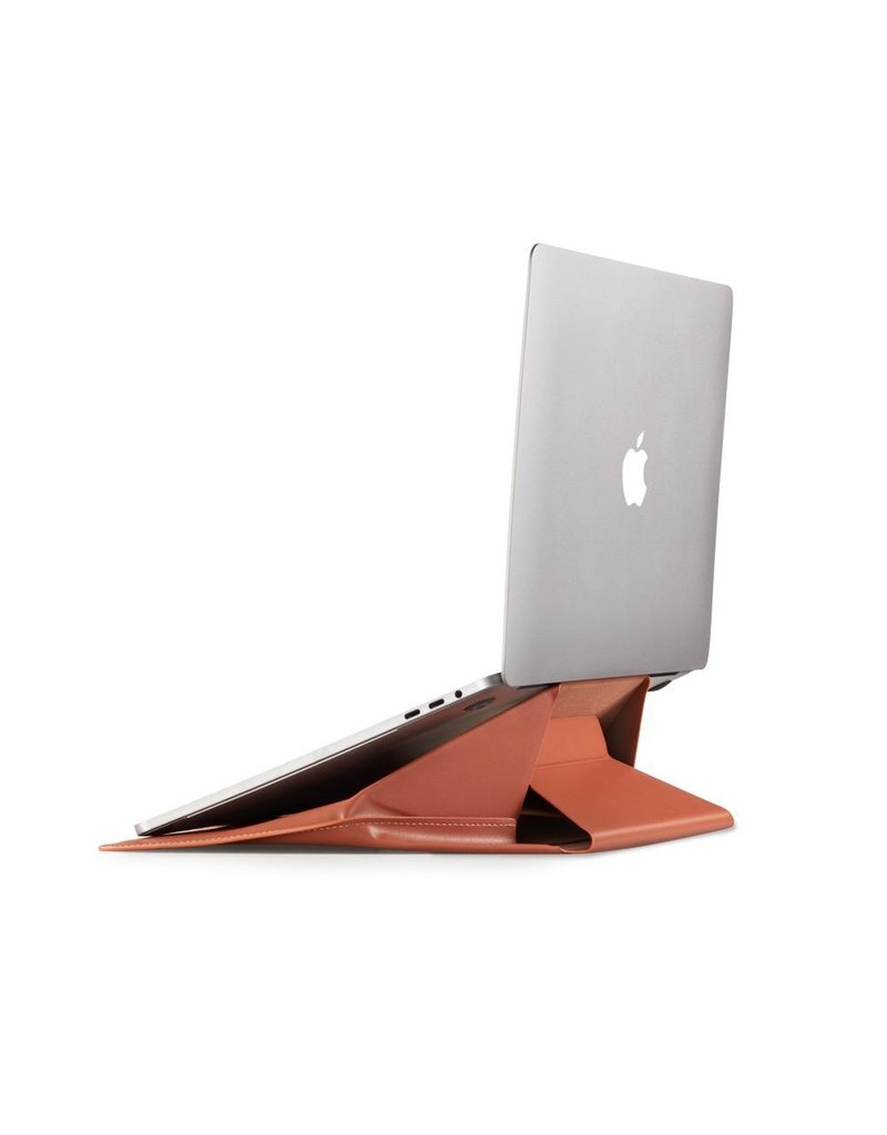 """Moft Moft Carry Sleeve/Stand for 13.3"""" Macbook Air and 14"""" laptops - Brown"""